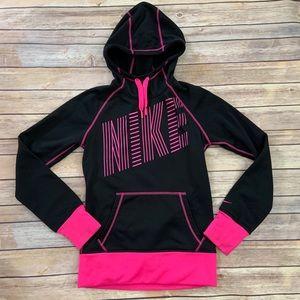 Nike Black & Pink Hoodie